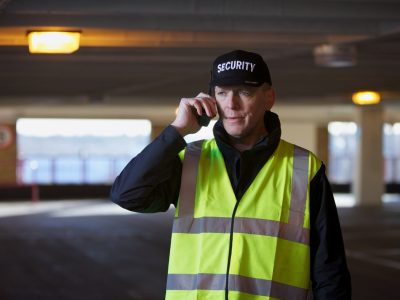Security guard using a walkie talkie...For more of this model click on the banner below...